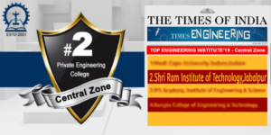 Top Private engineering institute – 2019 central zone  by Times Engineering survey 2019.