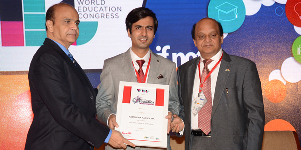 50 Most Influential Education Entrepreneurs Award By WORLD EDUCATION CONGRESS - 2015
