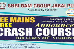 Free crash course for JEE(Main) is starting from 23rd march 2020 (1st batch) and 28th march 2020 (2nd batch) with highly qualified and top faculties of Jabalpur.
