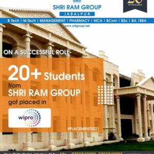 More than 20 students got selected at Wipro