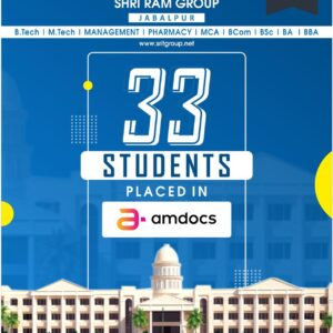 33 Students got placed at AMDOCS in 2021